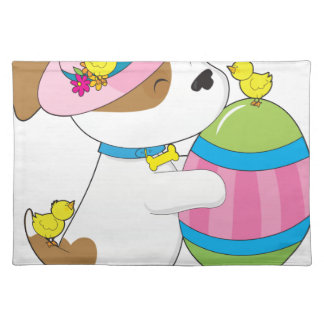 Cute Puppy Easter Egg Placemat