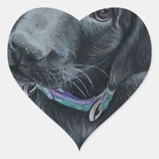 Cute puppy heart sticker