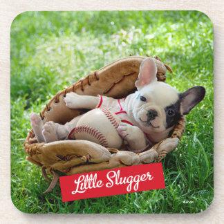 Cute Puppy in a Baseball Mitt Coaster