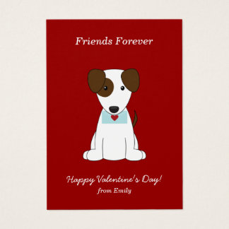 Cute Puppy Kids Classroom Valentines Business Card