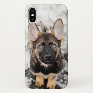 Cute Puppy Looking Up iPhone X Case