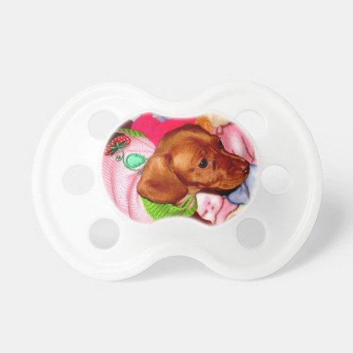 Cute Puppy Pacifier Dachshund Baby Stuff