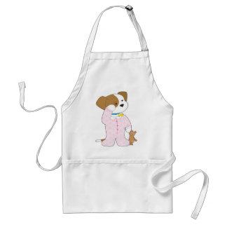 Cute Puppy Pajamas Standard Apron