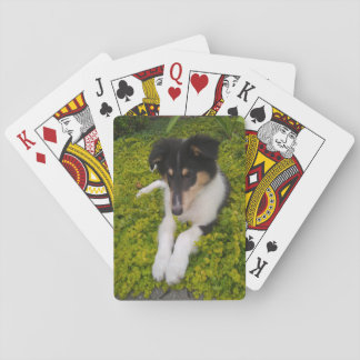 Cute Puppy Playing Cards