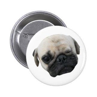 Cute Puppy Pug Dog Friend ... かわいい 子犬 2 Inch Round Button
