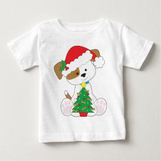 Cute Puppy Santa Baby T-Shirt