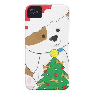 Cute Puppy Santa Case-Mate iPhone 4 Cases