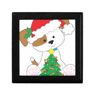 Cute Puppy Santa Gift Box