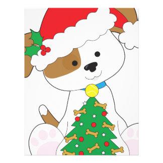 Cute Puppy Santa Letterhead