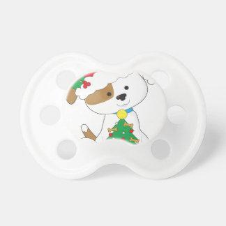 Cute Puppy Santa Pacifier