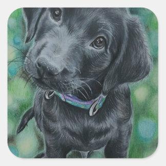 Cute puppy square sticker