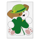 Cute Puppy St Pats Card