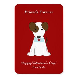 "Cute Puppy Valentines 3.5"" X 5"" Invitation Card"