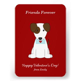 Cute Puppy Valentines Custom Announcement
