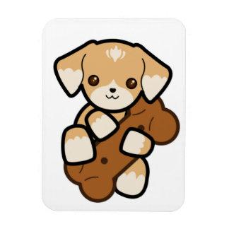 Cute Puppy With a Big Bone Magnet