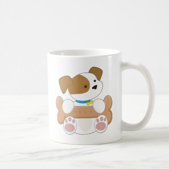 Cute Puppy With a Snack Coffee Mug
