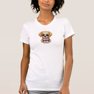 Cute Puppy with Croatian Flag Dog Tag T-Shirt