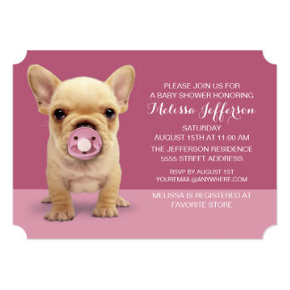 Cute Puppy with Pacifier Card
