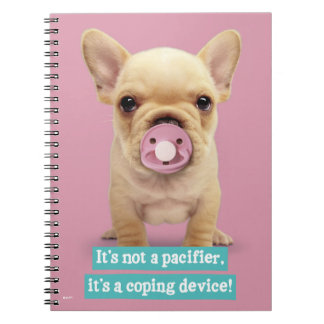 Cute Puppy with Pacifier Spiral Notebook