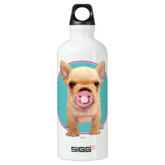 Cute Puppy with Pacifier Water Bottle