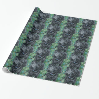 Cute puppy wrapping paper