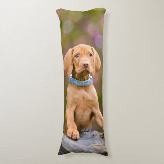 Cute puppyeyed Hungarian Vizsla Dog Puppy Photo _. Body Pillow