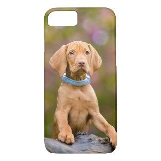 Cute puppyeyed Hungarian Vizsla Dog Puppy Photo .- Case-Mate iPhone Case