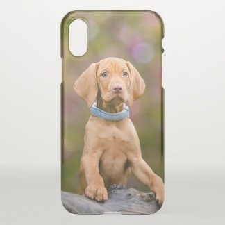 Cute puppyeyed Hungarian Vizsla Dog Puppy Photo -- iPhone X Case