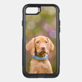 Cute puppyeyed Hungarian Vizsla Dog Puppy Photo -- OtterBox Commuter iPhone 8/7 Case