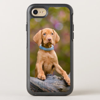 Cute puppyeyed Hungarian Vizsla Dog Puppy Photo .. OtterBox Symmetry iPhone 8/7 Case