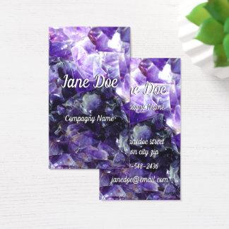 Cute purple amethyst business card