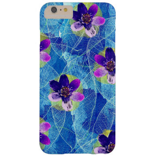 Cute Purple and Blue Artistic Floral Pattern Barely There iPhone 6 Plus Case