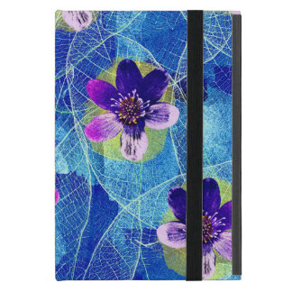 Cute Purple and Blue Artsy Floral Pattern iPad Mini Cover