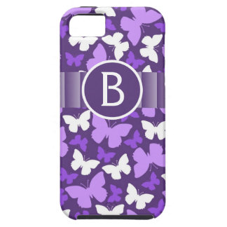 Cute Purple Butterflies with Monogram Personalized iPhone 5 Cover
