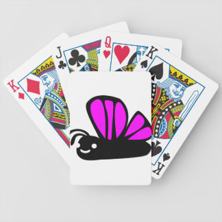 Cute purple butterfly bicycle playing cards