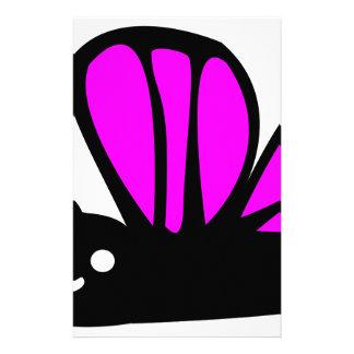 Cute purple butterfly custom stationery