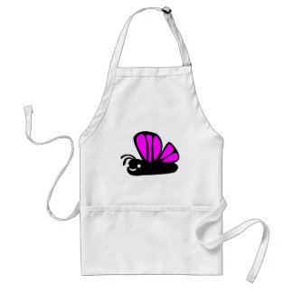 Cute purple butterfly standard apron
