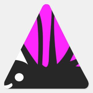 Cute purple butterfly triangle sticker