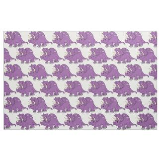 Cute Purple Cartoon Dinosaur Fabric