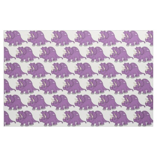 Cute Purple Cartoon Dinosaur Fabric