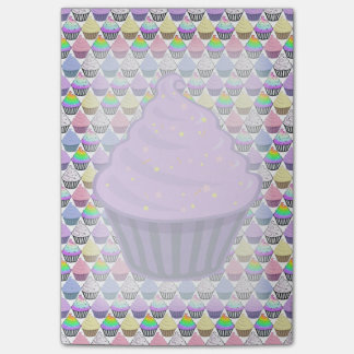 Cute Purple Cupcake Swirl Icing With Sprinkles Post-it Notes