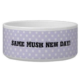 Cute Purple Dot Ceramic Pet Dog Bowls Dishes