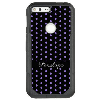 Cute Purple Dots Pattern Add your name OtterBox Commuter Google Pixel XL Case