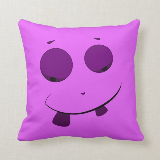 Cute Purple Face Pillow