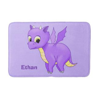 Cute Purple Flying Baby Dragon Bath Mat