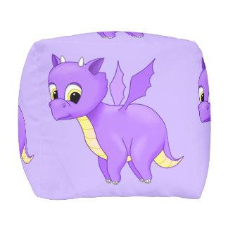 Cute Purple Flying Baby Dragon Pouf