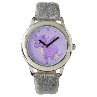 Cute Purple Flying Baby Dragon Watch