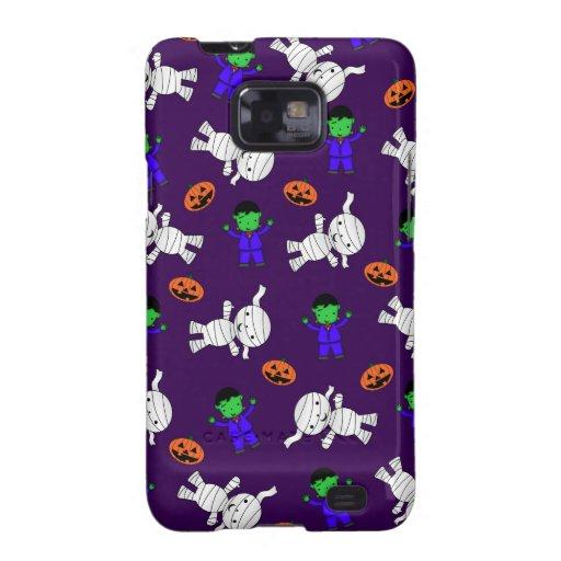Cute purple Frankenstein mummy pumpkins Galaxy SII Cover