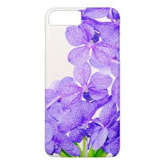 Cute purple green orchids flowers pattern iPhone 8 plus/7 plus case