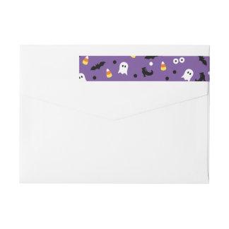 Cute Purple Halloween Return Address Labels